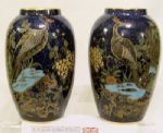 W&R Carlton Ware Rockery & Pheasant Pair of Matching Vases - 1920s - SOLD